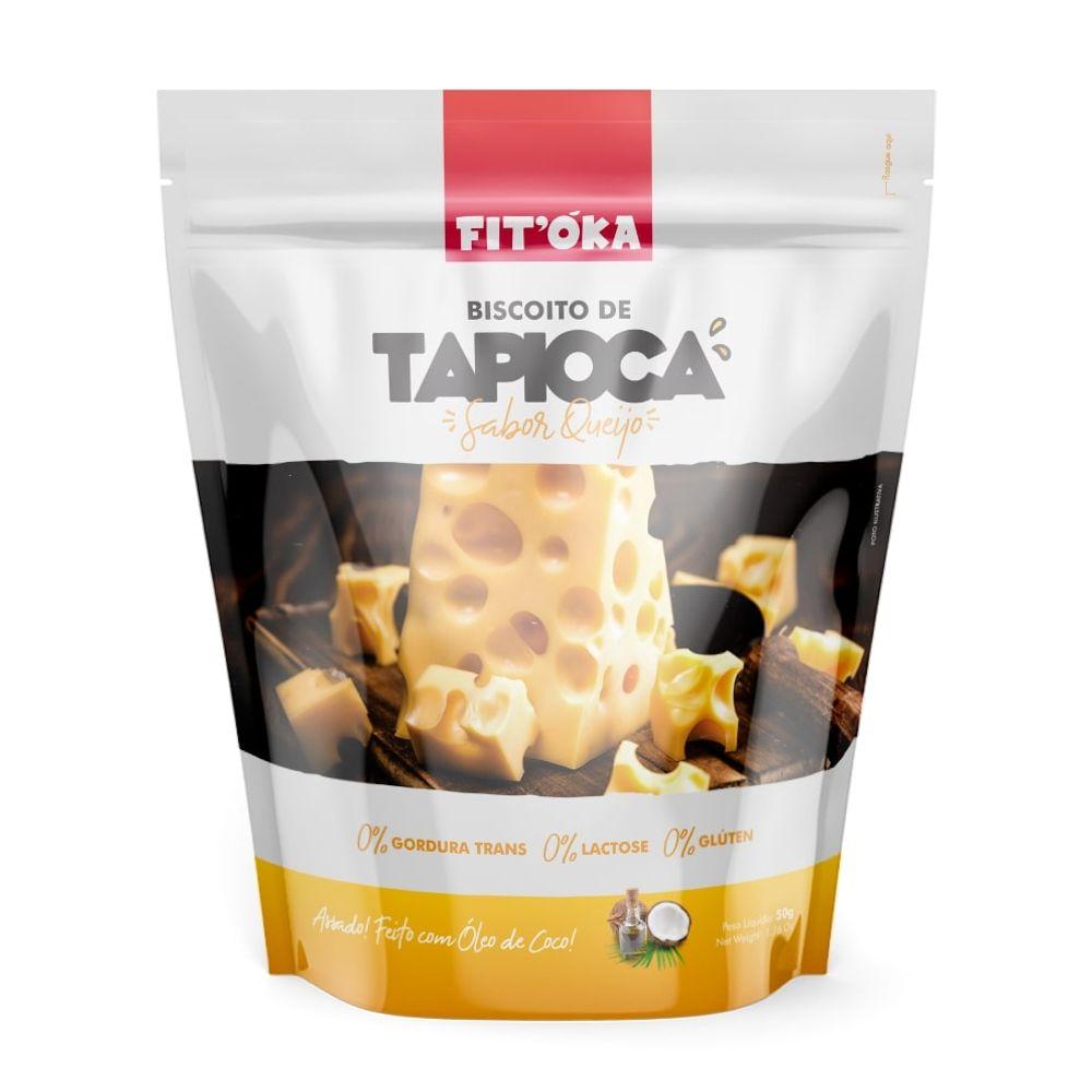 Biscoito De Tapioca Sabor Queijo (50g) - FIT'ÓKA