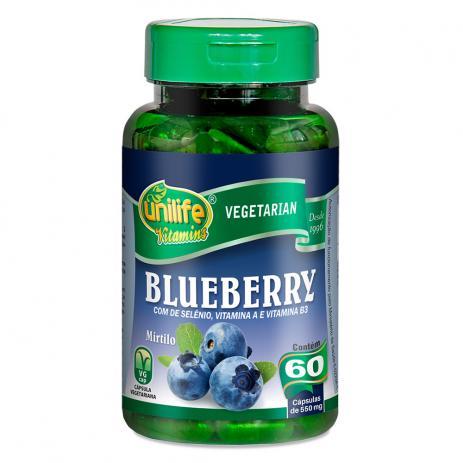 Blueberry 60 cápsulas Selênio Imunidade (550mg) - Unilife