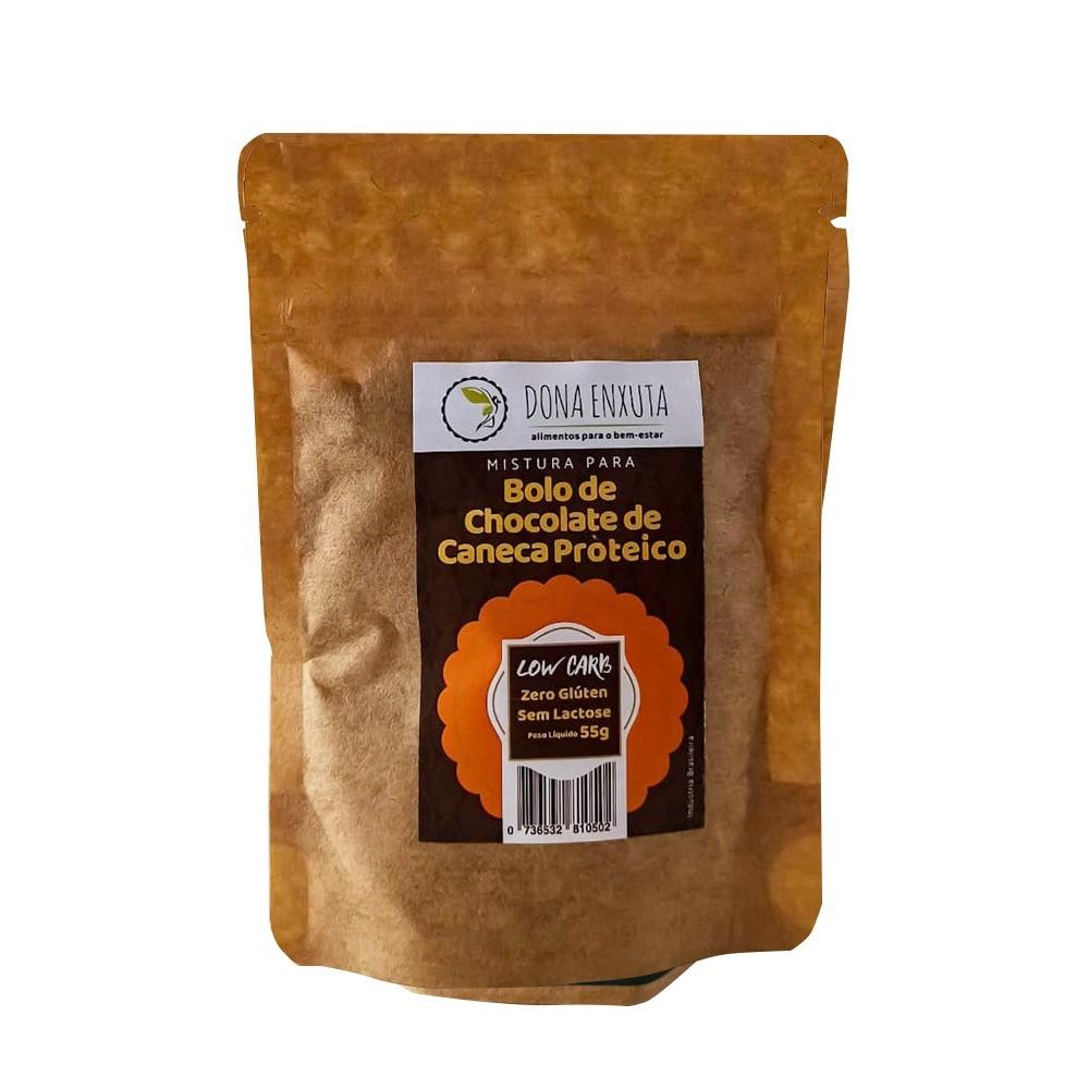 Bolo de Chocolate de Caneca Proteico (55g) - Dona Enxuta