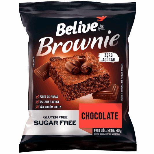 BROWNIE CHOCOLATE SEM AÇÚCAR (40g) - BELIVE