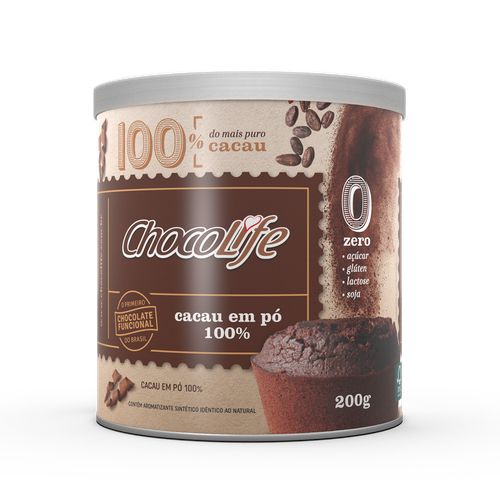 Cacau em Pó 100% (200g) - Chocolife