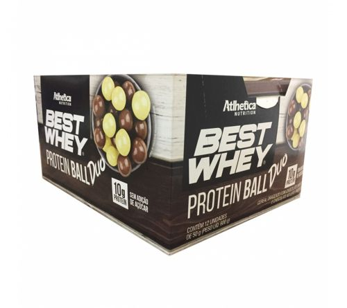 Caixa 12 unidades Best Whey Protein Ball Duo (50g) - Atlhetica Nutrition