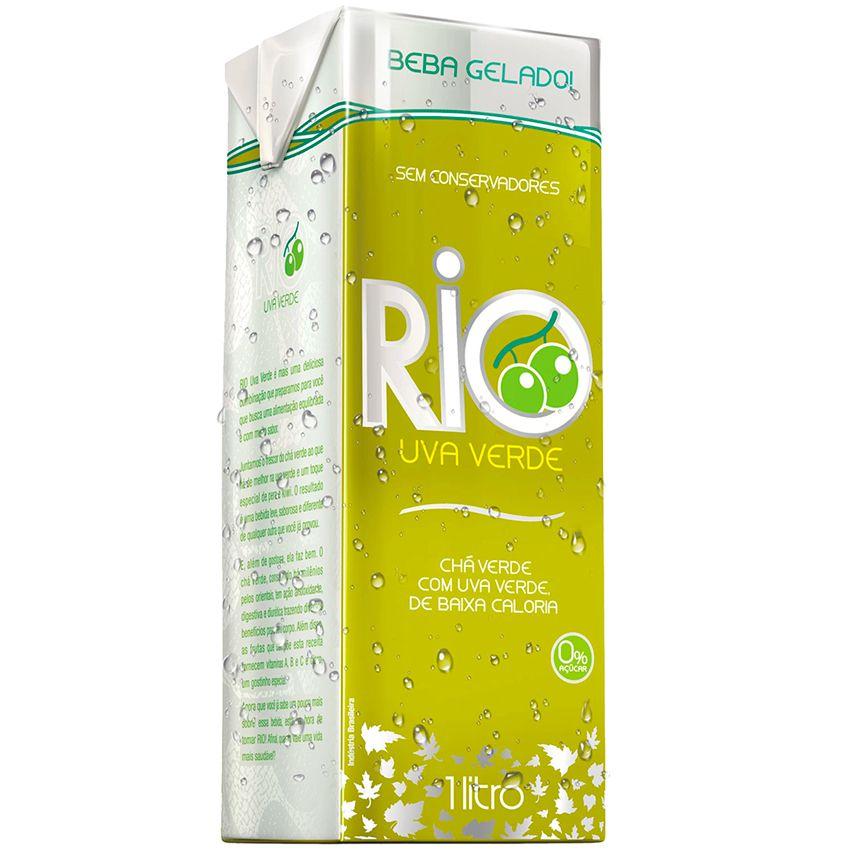 Chá Verde Sabor Uva Verde Zero (1L) - Rio