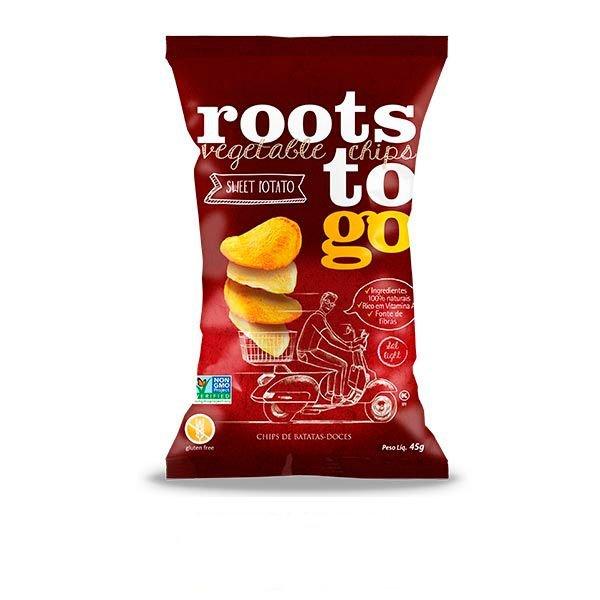 Chips de Batatas Doces (45g) - Roots to go