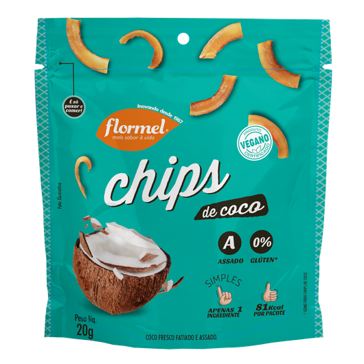 Chips de Coco - 20g  Flormel