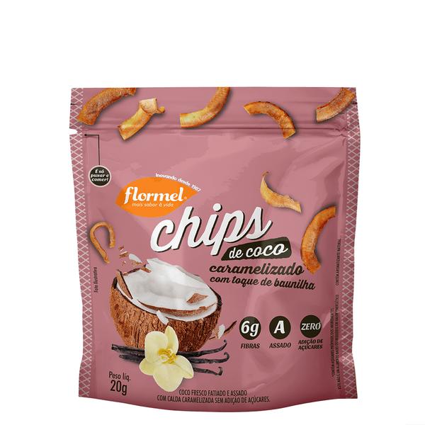 Chips de Coco Caramelizado - 20g  Flormel