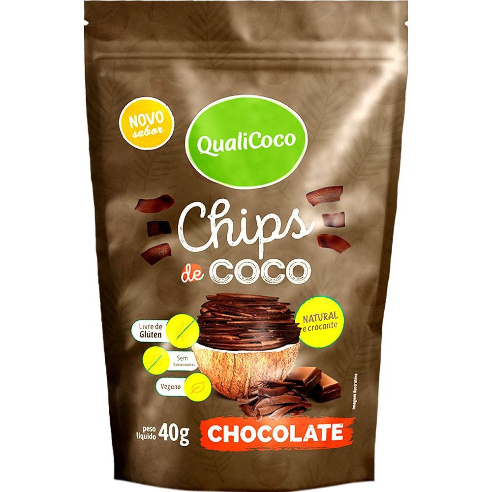 Chips de Coco - Chocolate QualiCôco 40g