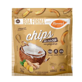 Chips de Coco com Gengibre - 20g  Flormel