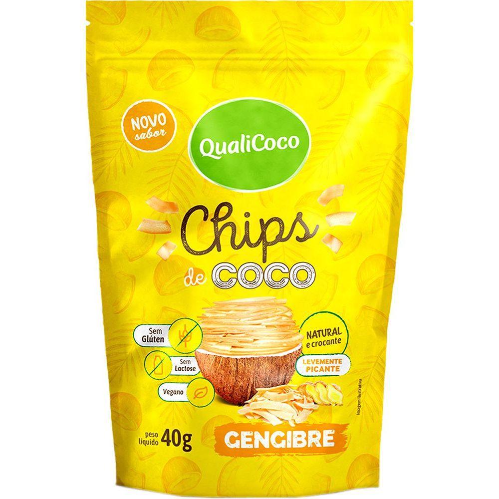 Chips de Coco - Gengibre QualiCôco 40g