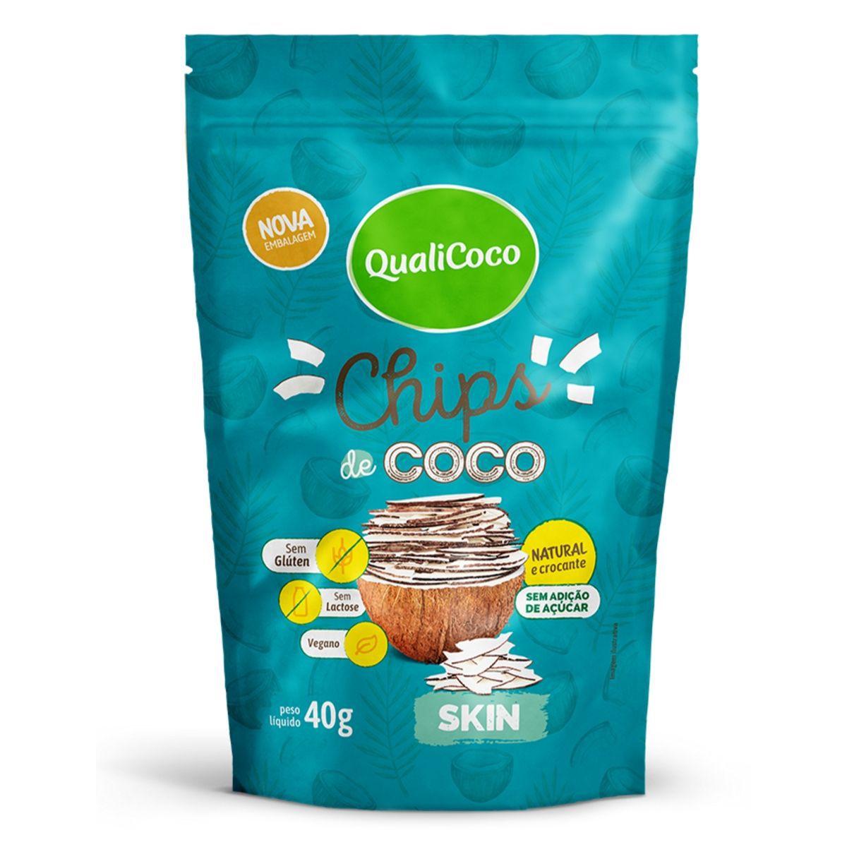 Chips De Coco Skin 40g - QualiCôco