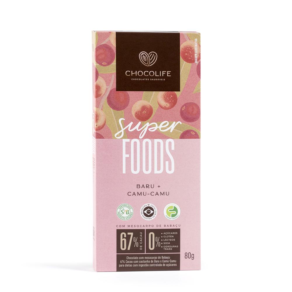 Chocolate 67% Baru + Camu-Camu SUPERFOOD (80g) - Chocolife