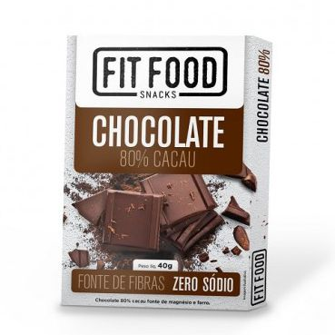 Chocolate 80% cacau 40g - Fit Food