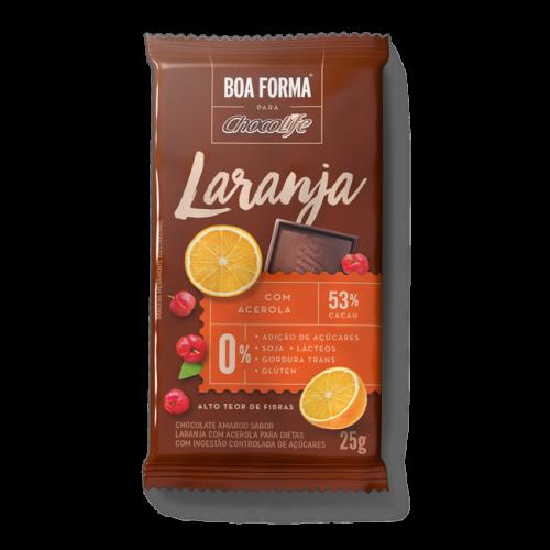 Chocolate Boa Forma Laranja Com Acerola 53% cacau (25g) Chocolife
