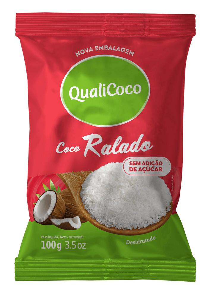 Coco Ralado Sem Adição De Açúcar (100g) - QualiCôco