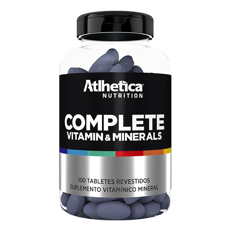 Complete Vitamin & Minerals - Imunidade - 100 Tabletes - Atlhetica Nutrition