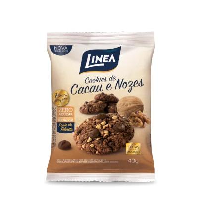 Cookie Cacau Com Nozes (40g) - Linea