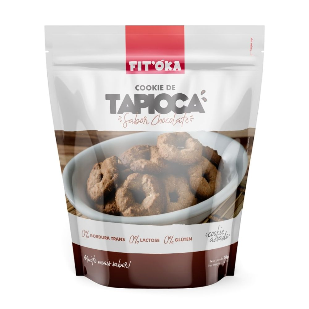 Cookie De Tapioca Sabor Chocolate (50g) - FIT'ÓKA