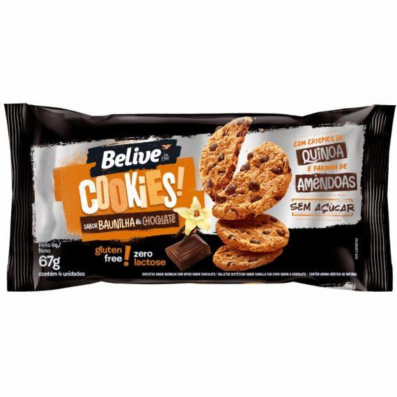 Cookie Sabor Baunilha & Chocolate Sem Açúcar (67g) - BeLive