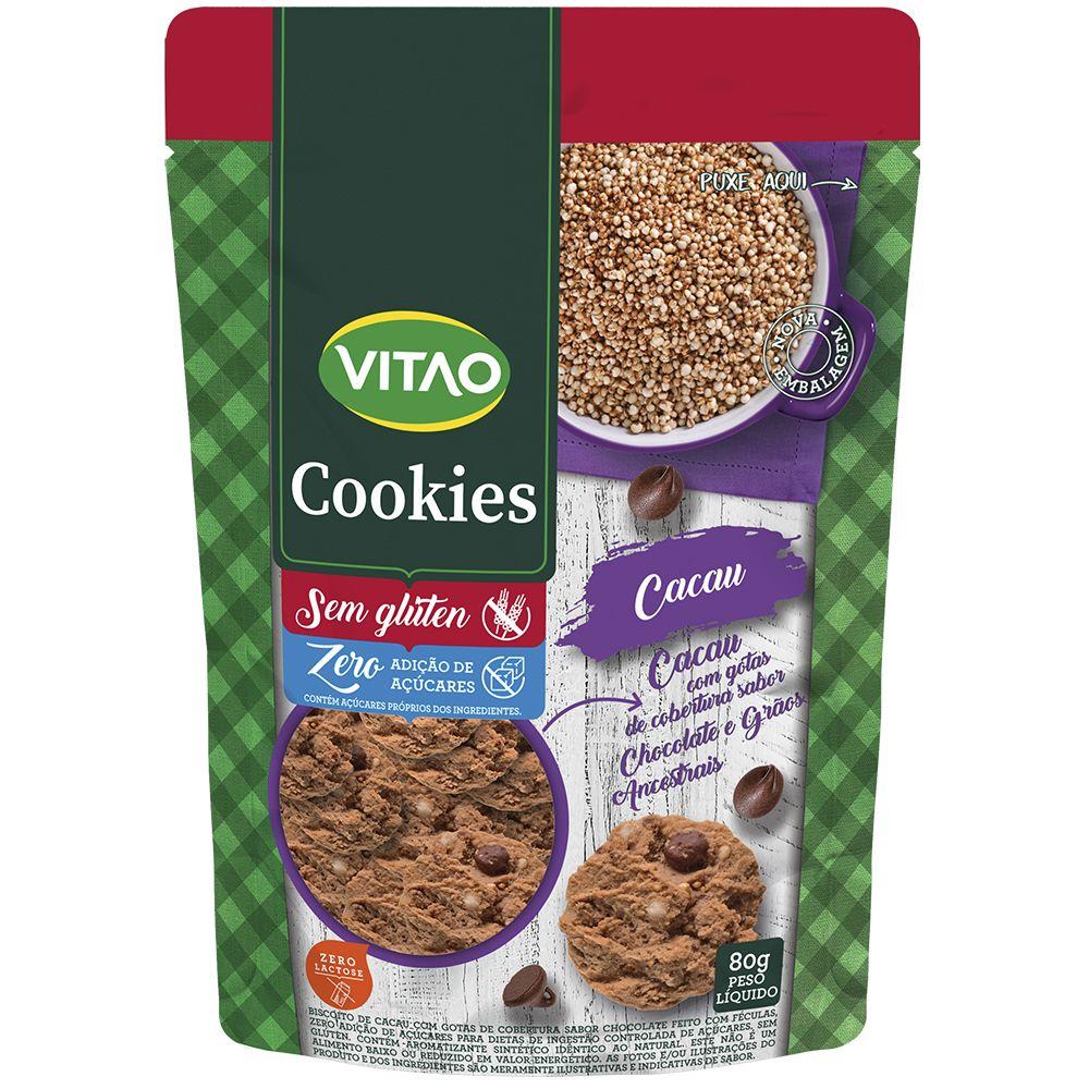 Cookies Proteico Zero Cacau Com Grãos Ancestrais (80g) - VITAO