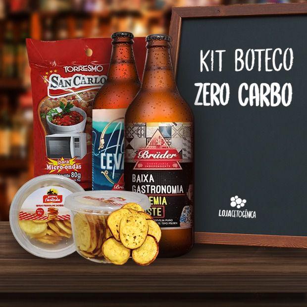 Kit Boteco Zero Carbo - Cerveja Zero + PROVOLONE + Pururuca