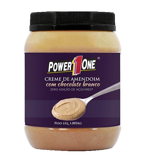 Creme de Amendoim com Chocolate Branco (1Kg) - Power1One