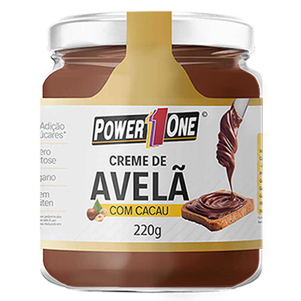 Creme de Avelã com Cacau (220g) - Power1One