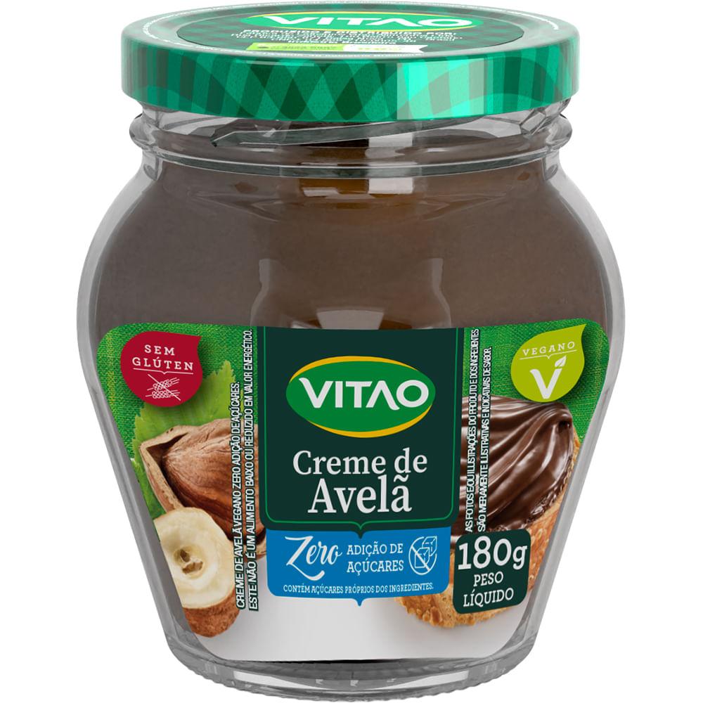 Creme de Avelã Vegano Zero Adição de Açúcares (180g) - VITAO
