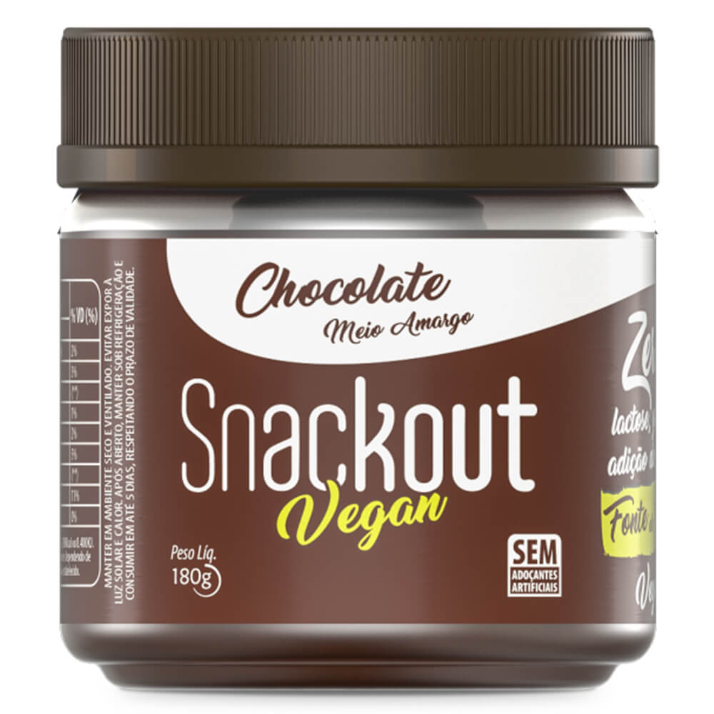 Doce Snackout Chocolate Meio Amargo Vegan (180g)