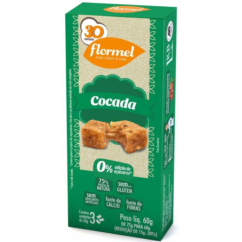 Doces Pedaços Cocada Zero - Caixa 3 unidades - Flormel