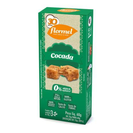 Doces Pedaços Cocada Zero (caixa 3 unidades) - Flormel