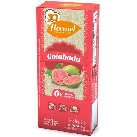 Doces Pedaços Goiabada Zero - Caixa 3 unidades - Flormel