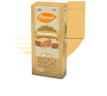 Doces Pedaços Paçoca Zero - Caixa 3 unidades - Flormel