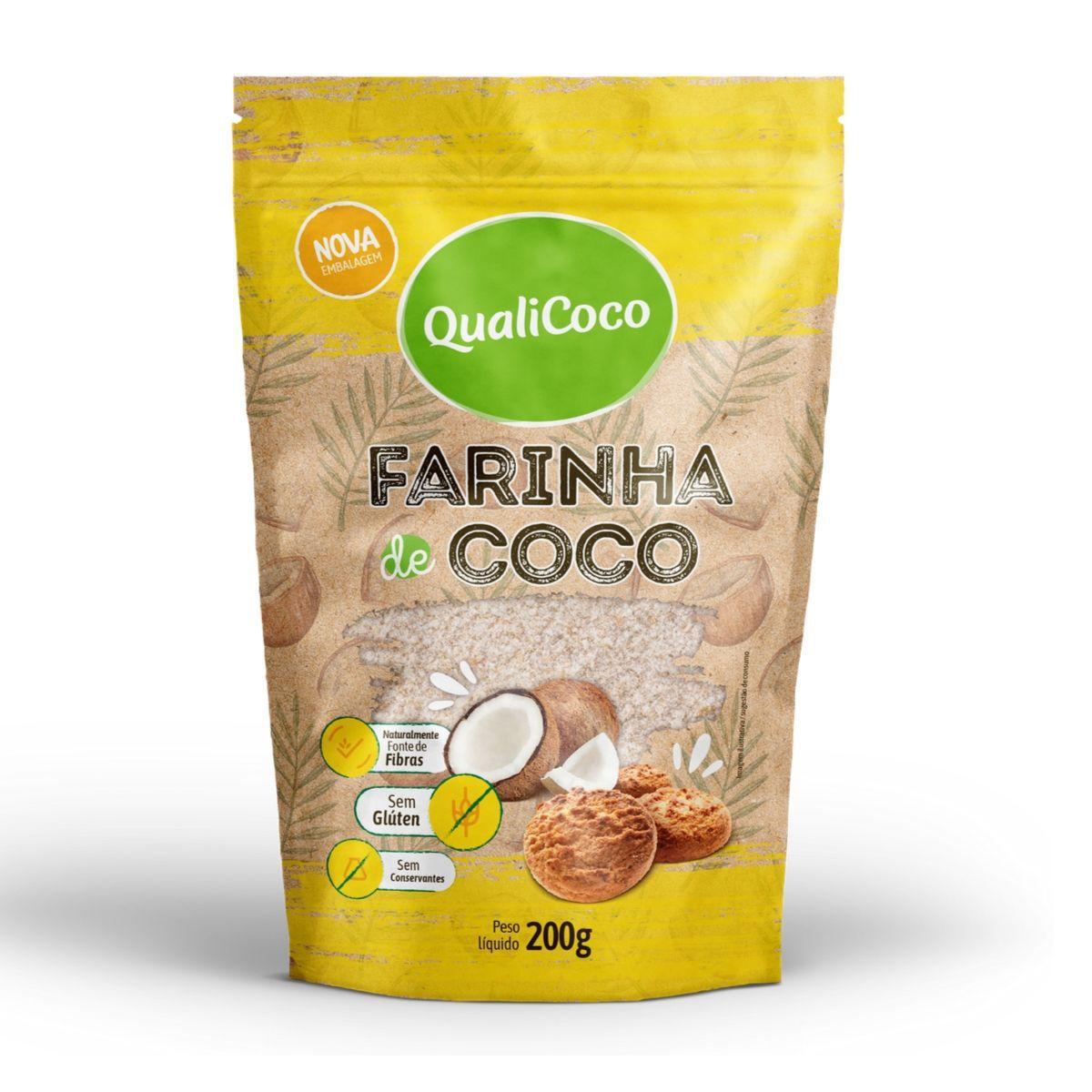 Farinha De Coco Desidratada (200g) - QualiCôco