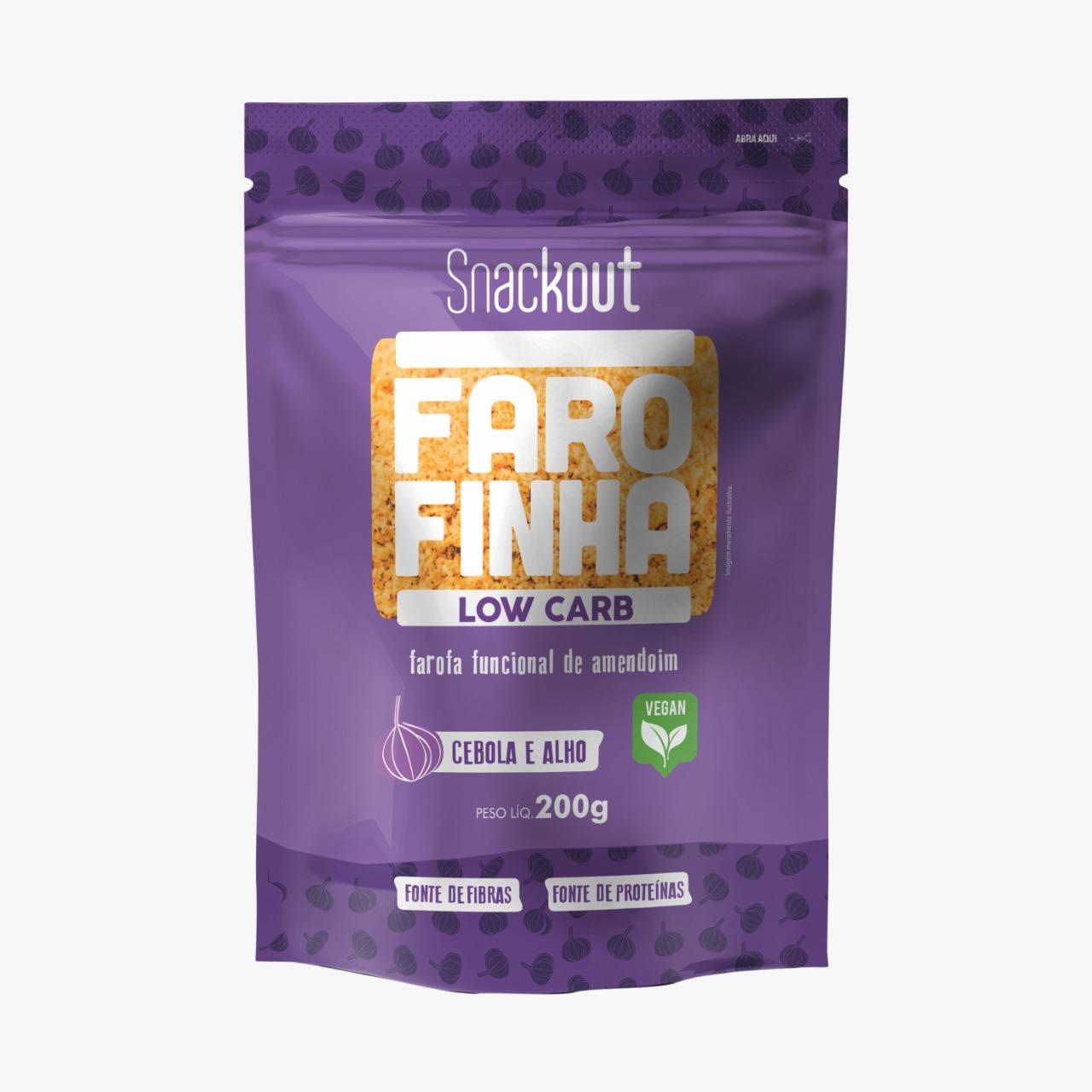 Farofa Farofinha Cebola e Alho Low Carb (200g) - Snackout