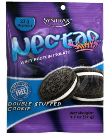 Grab N' GO Sachê Nectar Whey Protein Isolado Double Stuffed Cookies  ZERO CARBO (27g) - Syntrax