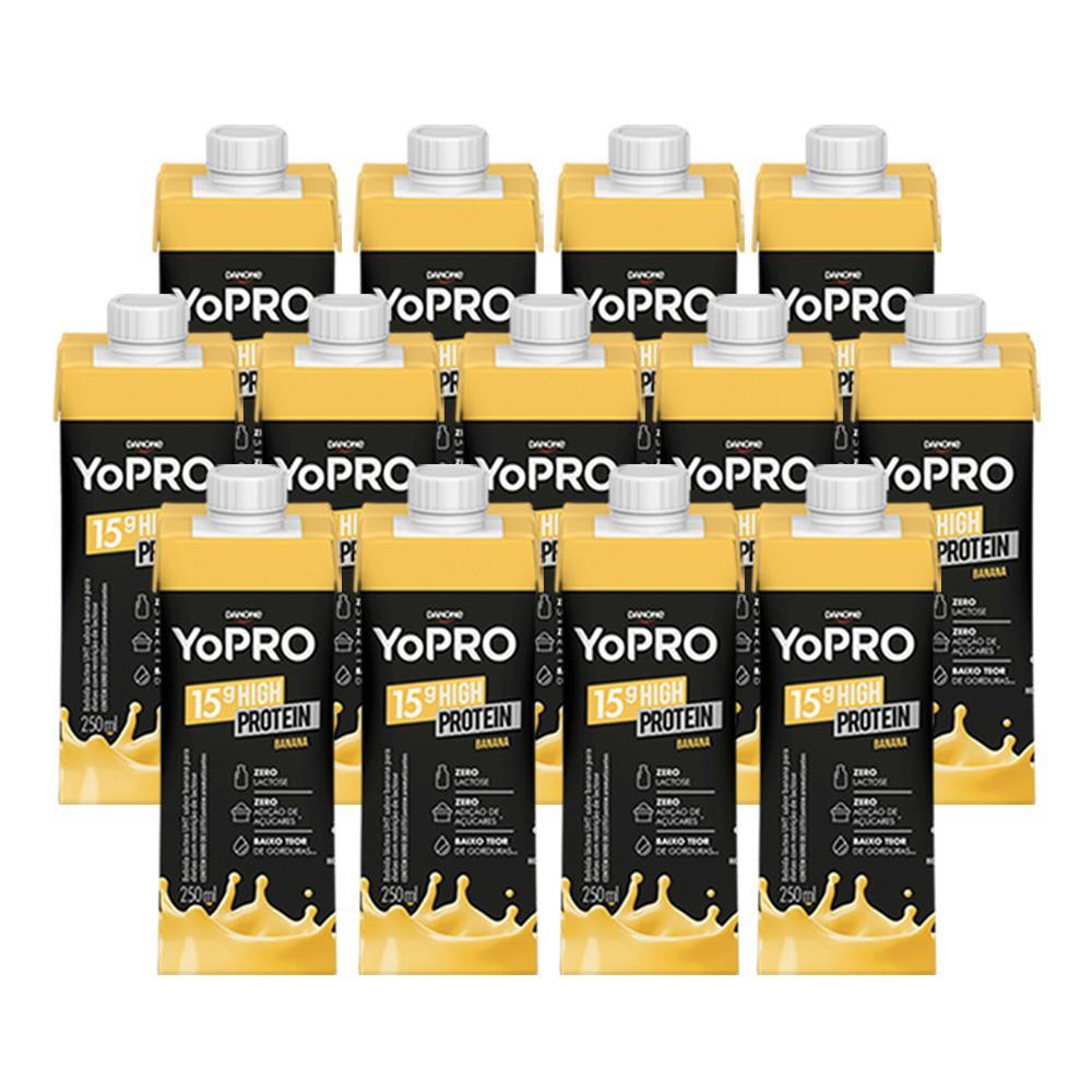 Kit 30 YoPRO 15g de Proteína Sabor Banana (250ml) - Danone