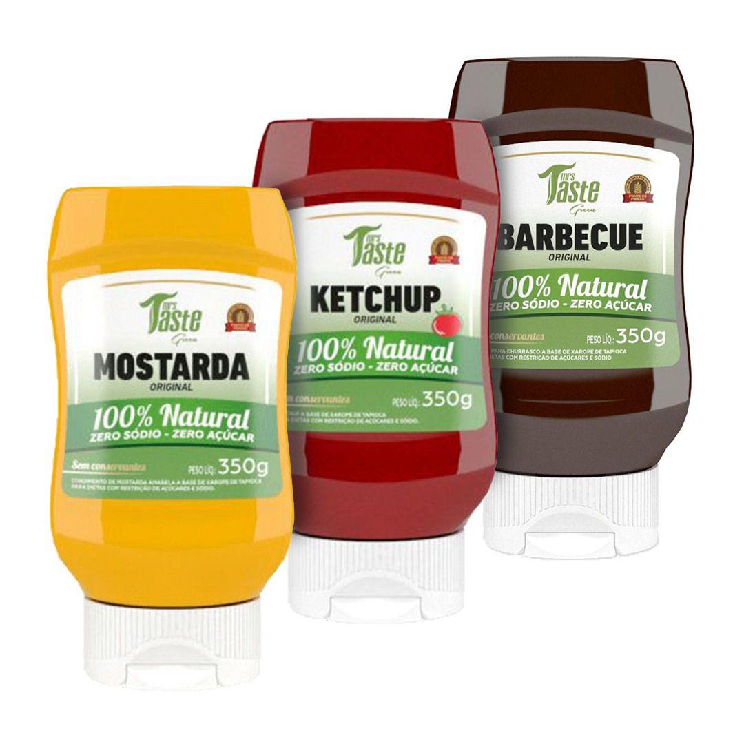 Kit 3 Molhos 100% Natural -  Mrs Taste Green