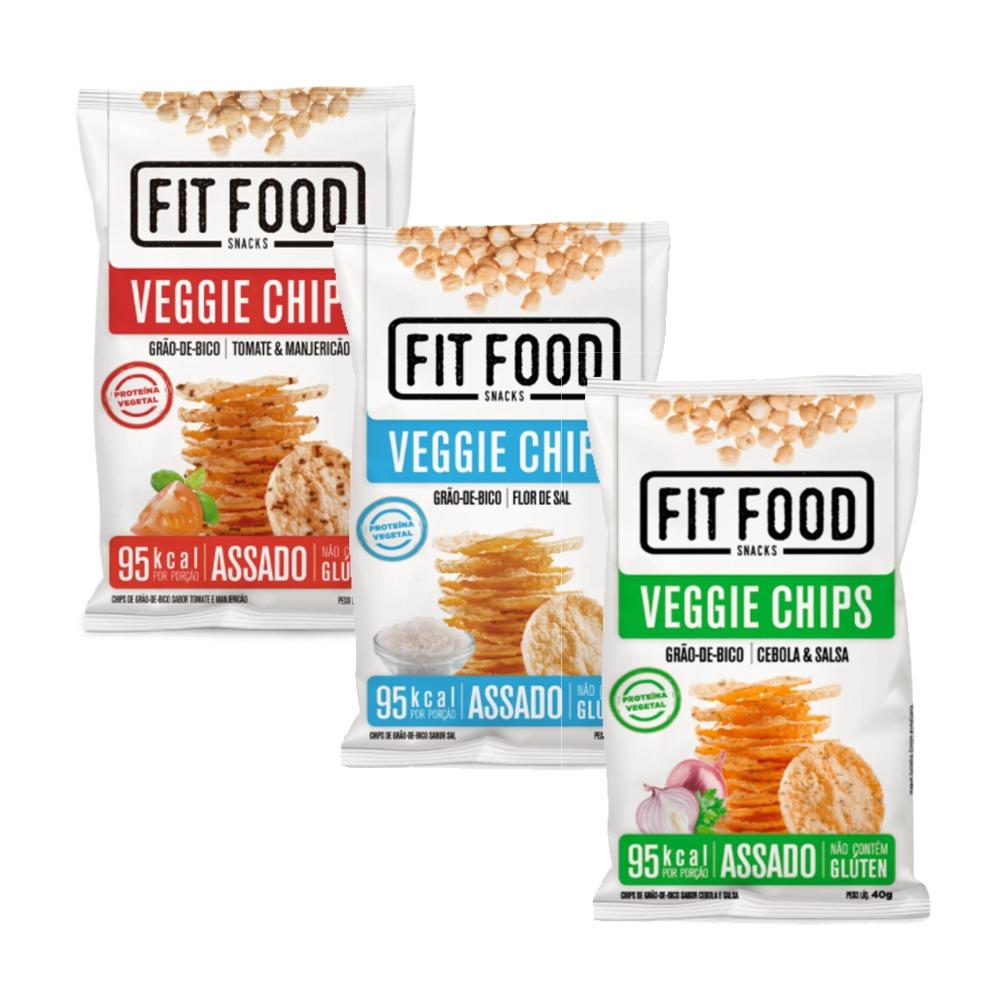 Kit 3 Veggies Chips - Fit Food