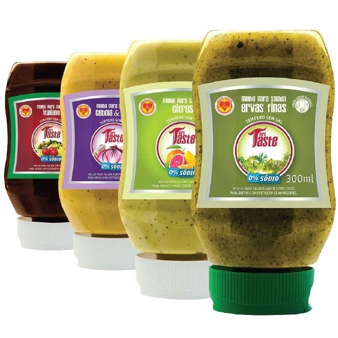 Kit 4 Molhos para Salada  - Mrs Taste