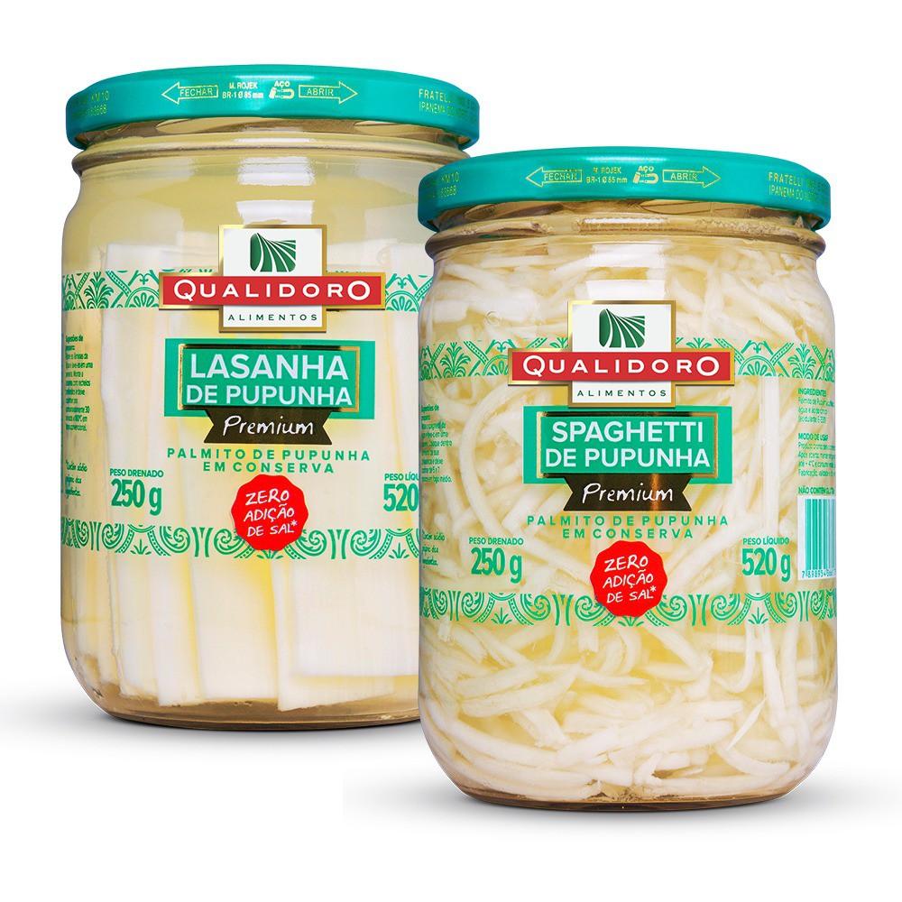 Kit Pupunhas Espaguete + Lasanha - Qualidoro