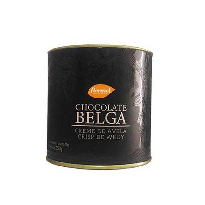 Lata Bombom Belga 54% Creme de Avelã e Crisp Whey - Flormel