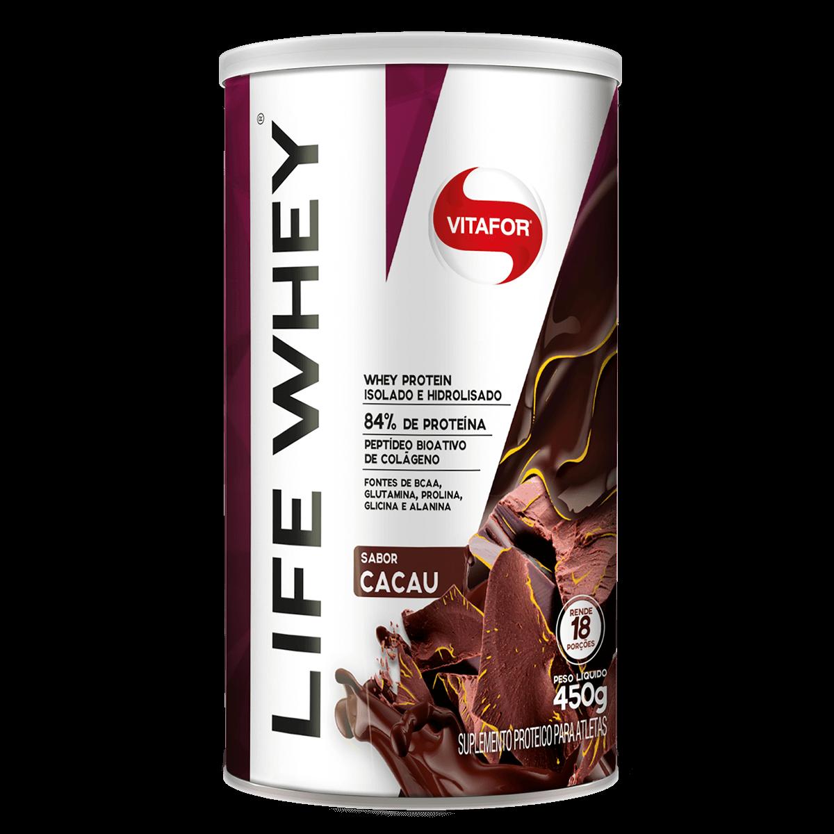 Life Whey Cacau (450g) - VitaFor