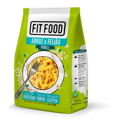 MACARRÃO FUSILLI DE ARROZ COM FEIJÃO (200g) - FIT FOOD