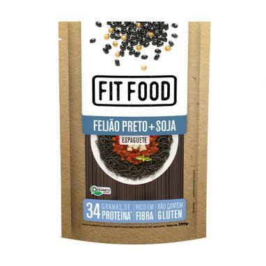 Macarrão Low Carb Espaguete de Feijão Preto e Soja (200g) - Fit Food
