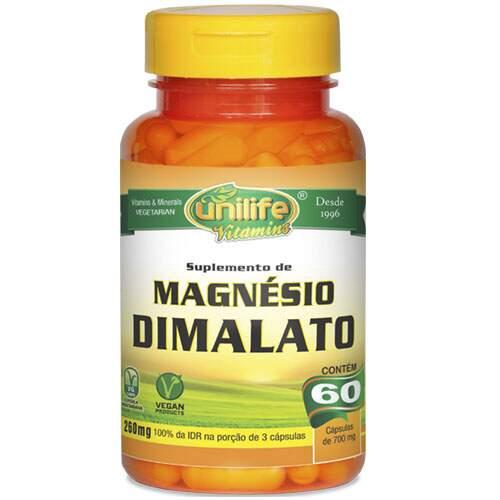 Magnésio Dimalato (60 Cápsulas) - Unilife