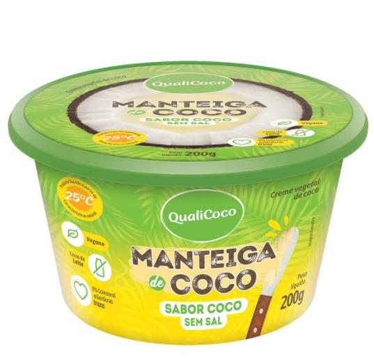 Manteiga de Coco Sabor Coco sem Sal (200g) QualiCoco