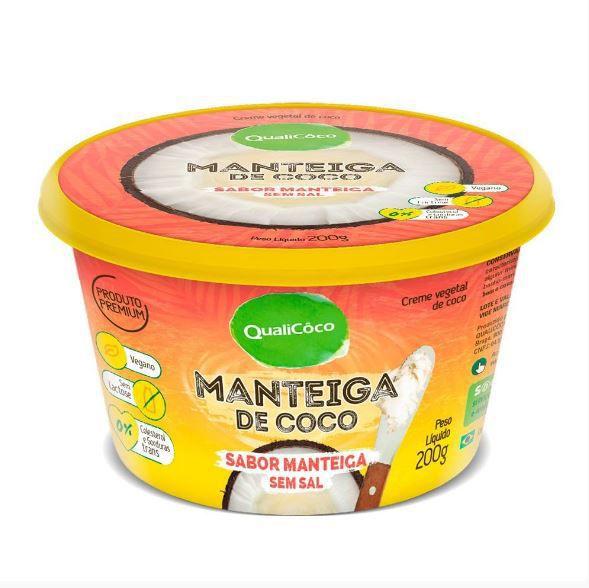 Manteiga de Coco Sabor Manteiga sem Sal (200g) QualiCoco