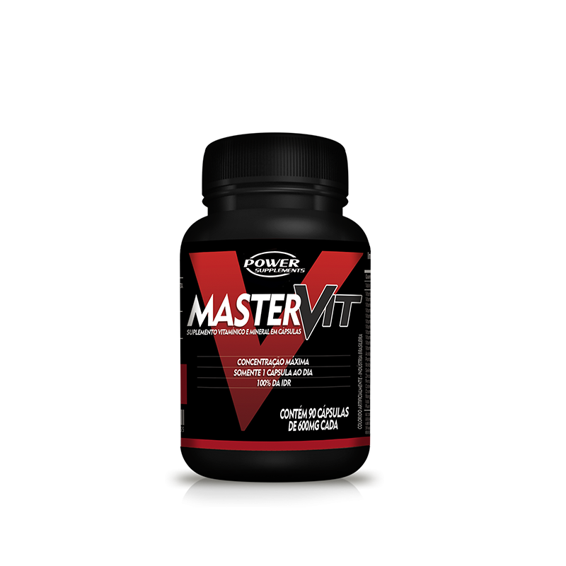 Master Vit Multivitamínico e Mineral  (90 Cápsulas) - Power Supplements
