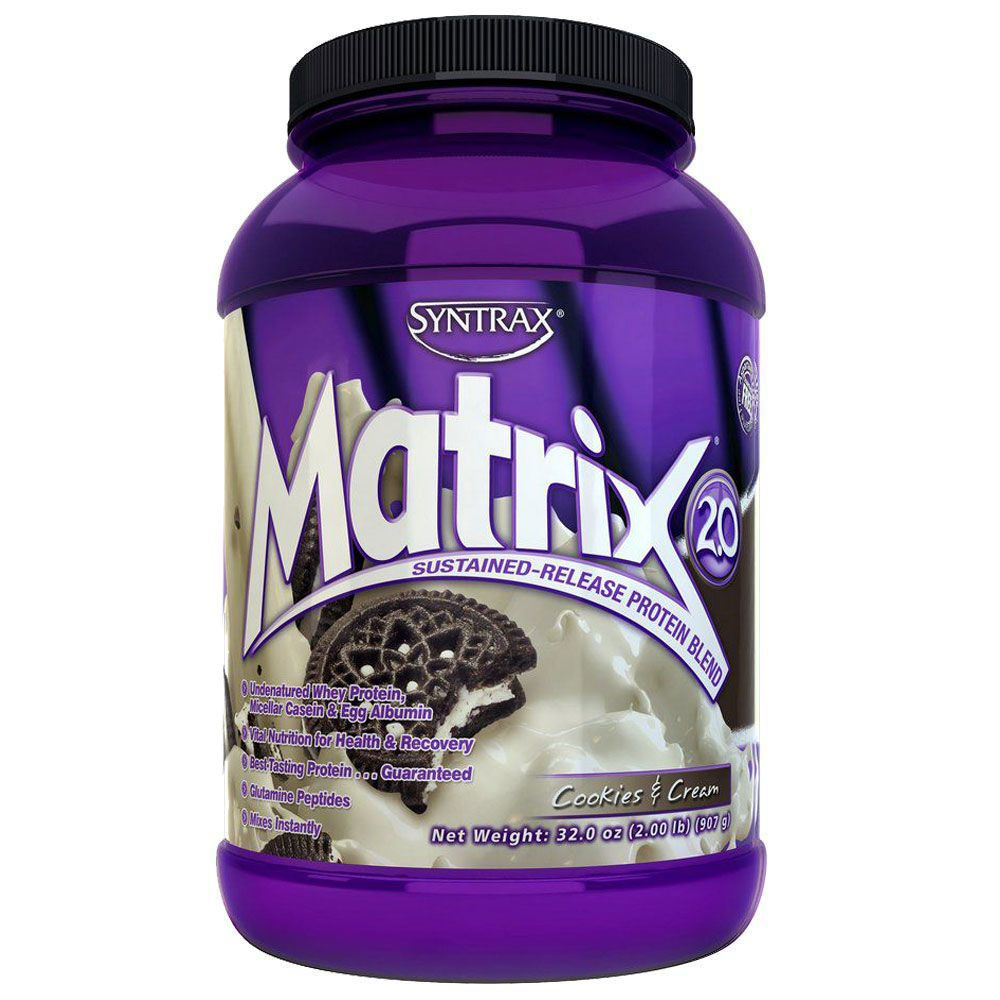 Matrix Whey Protein Blend Cookies & Cream (907g) - Syntrax