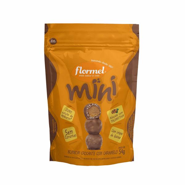 Mini Bombom Crocante com Caramelo (54g) -  Flormel